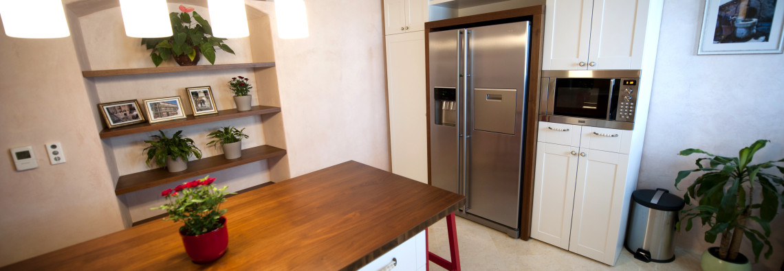 Main Kitchen and two-doors refrigerator