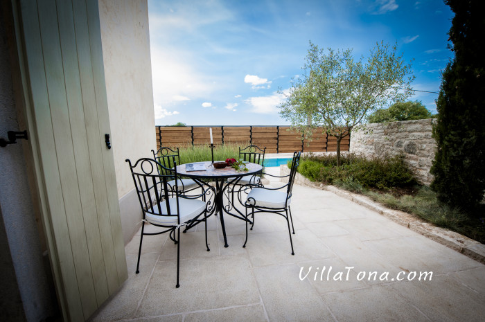 Small Coffee Table in the Backyard