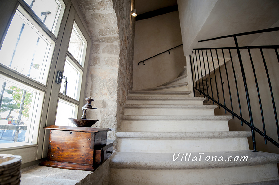 Stairs with Old Handrail